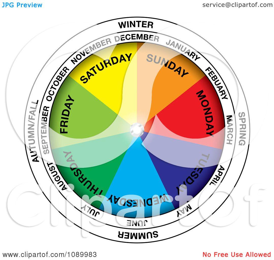 Clipart colorful calendar wheel royalty free vector illustration clipart colorful calendar wheel royalty free vector illustration by michaeltravers ccuart Choice Image