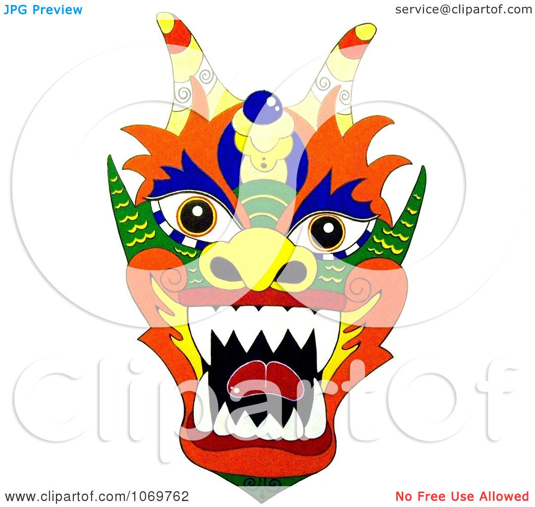 clipart colorful chinese dragon royalty free illustration by rh clipartof com chinese dragon head clipart chinese dragon dance clipart