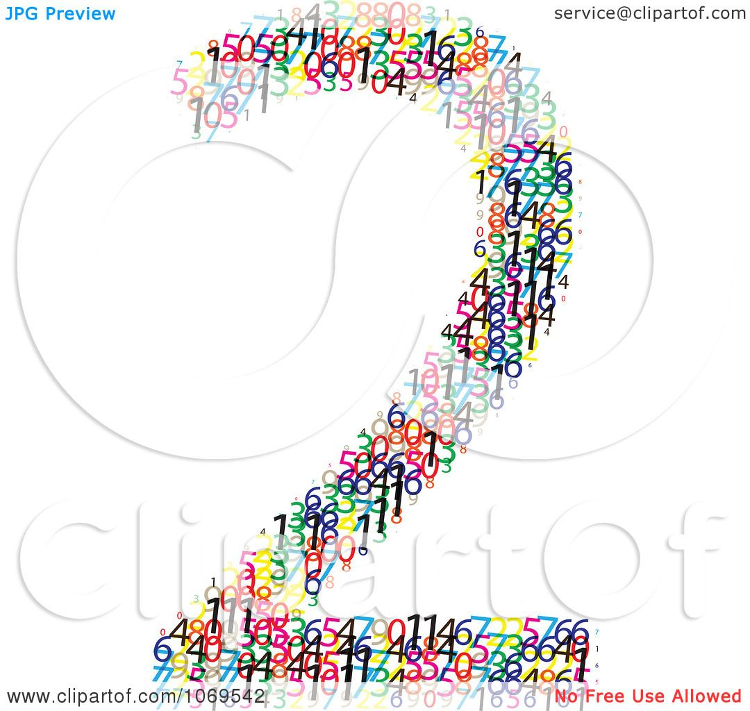 Clipart Colorful Digits Making Number 2 - Royalty Free ...