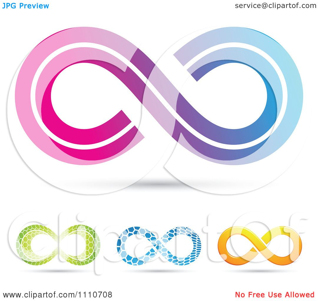 Clipart Colorful Infinity Symbols 3 Royalty Free Vector