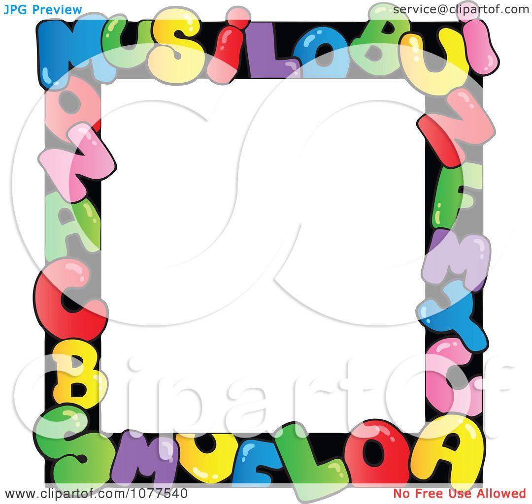 Clipart Colorful Letter School Frame - Royalty Free Vector ...