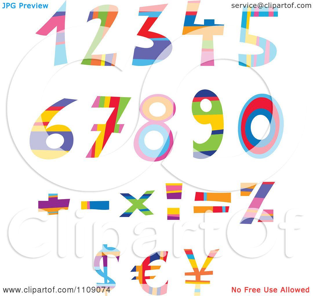 Clipart colorful numbers currency and math symbols royalty free clipart colorful numbers currency and math symbols royalty free vector illustration by yayayoyo biocorpaavc