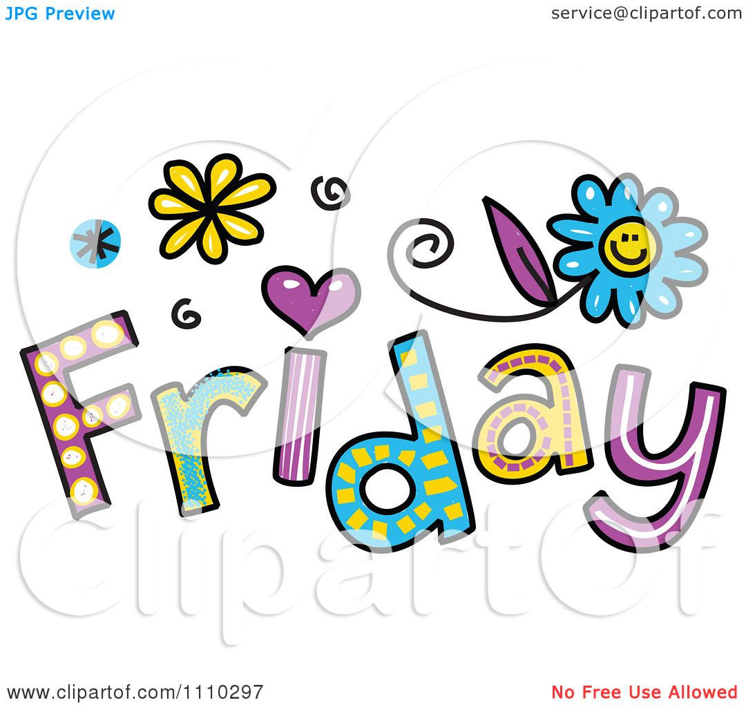 clipart colorful sketched friday text royalty free vector rh clipartof com good friday clip art free black friday clip art free