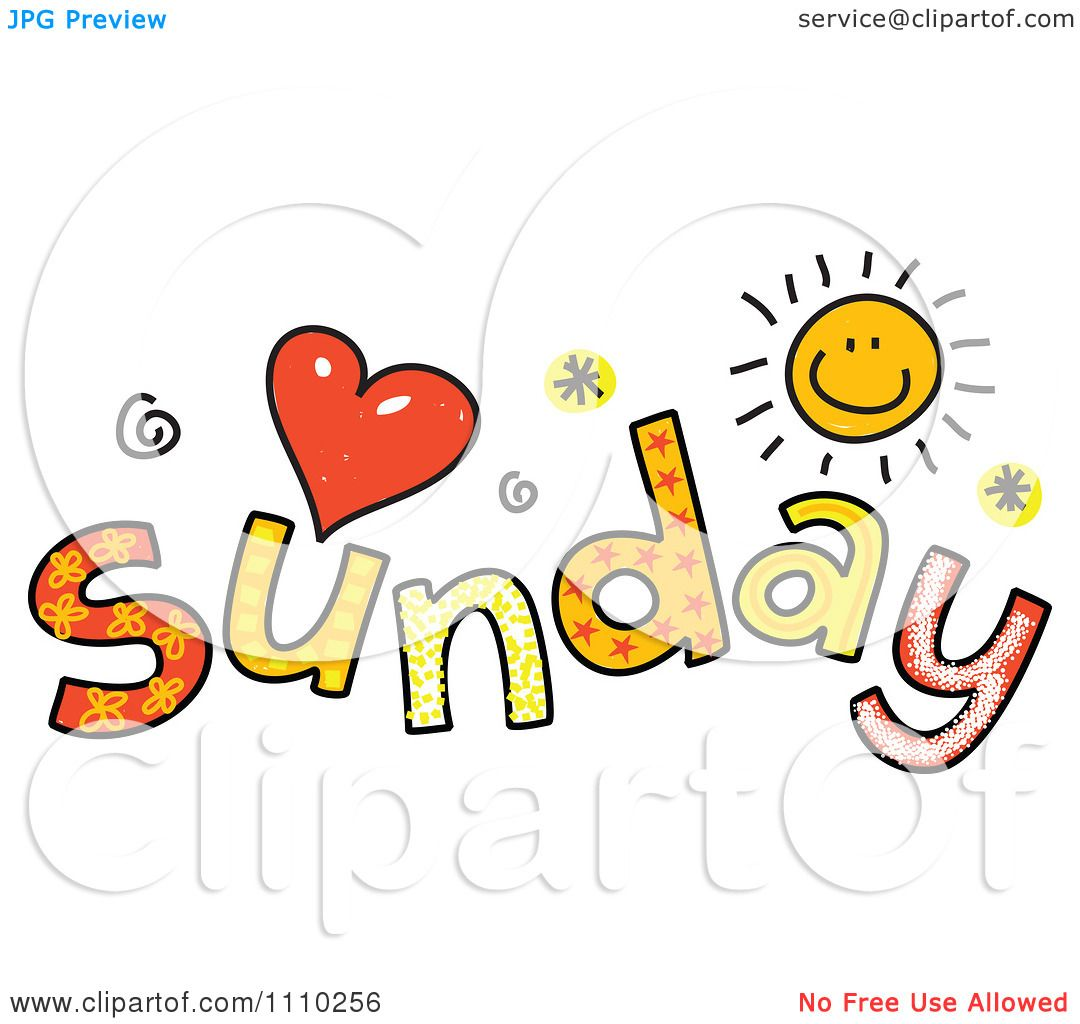 clipart colorful sketched sunday text royalty free sunday school clip art free sheep sunday school clip art free