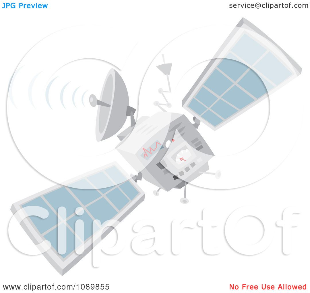 Clipart Communications Satellite - Royalty Free Vector ...