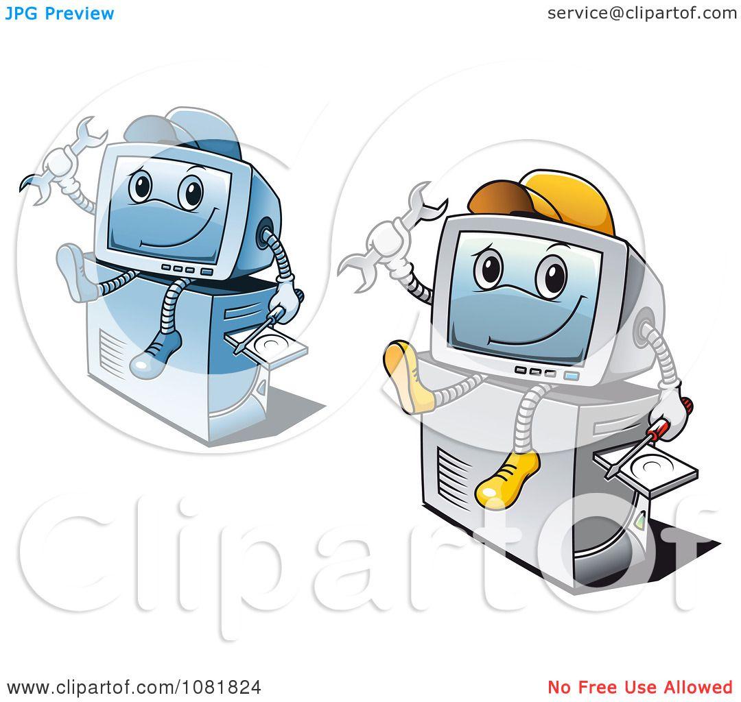 Computer repair logo vector clipart computer repair guys