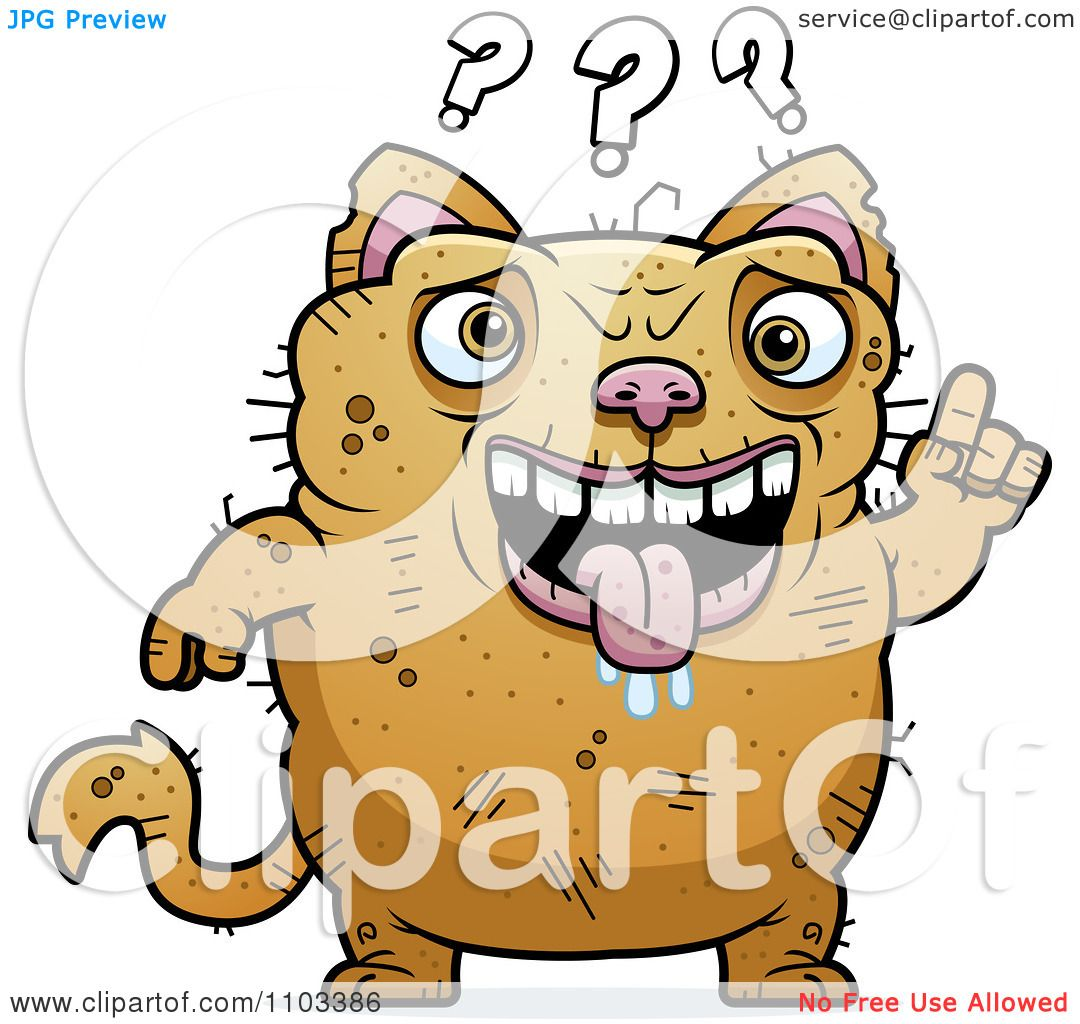 Clipart Confused Ugly Cat Royalty Free Vector Illustration By Cory Thoman 1103386