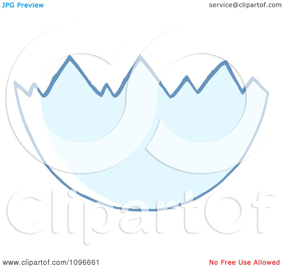 Clipart Cracked Egg Shell - Royalty Free Vector ...