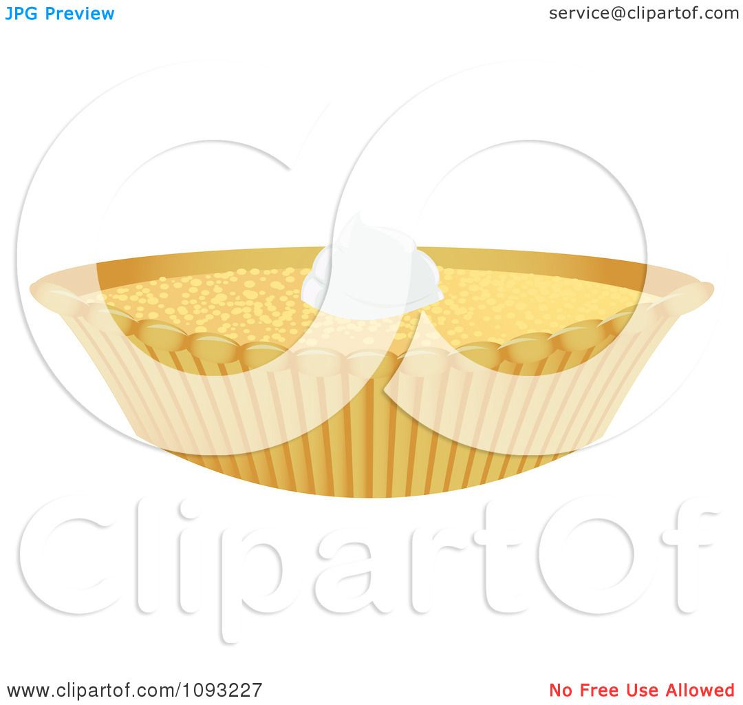 Clipart Custard Pie - Royalty Free Vector Illustration by ...