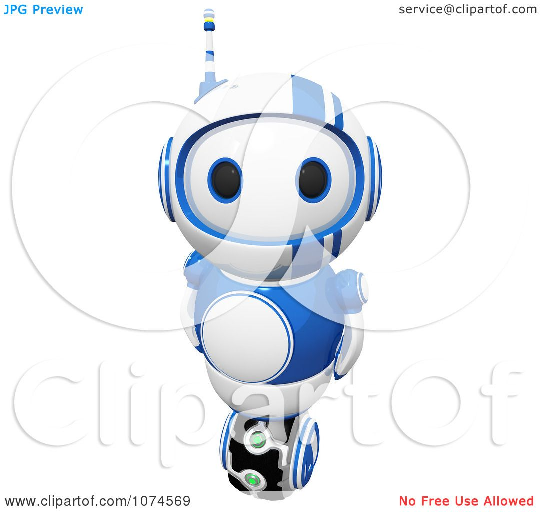 Clipart Cute 3d Blueberry Bot Royalty Free CGI