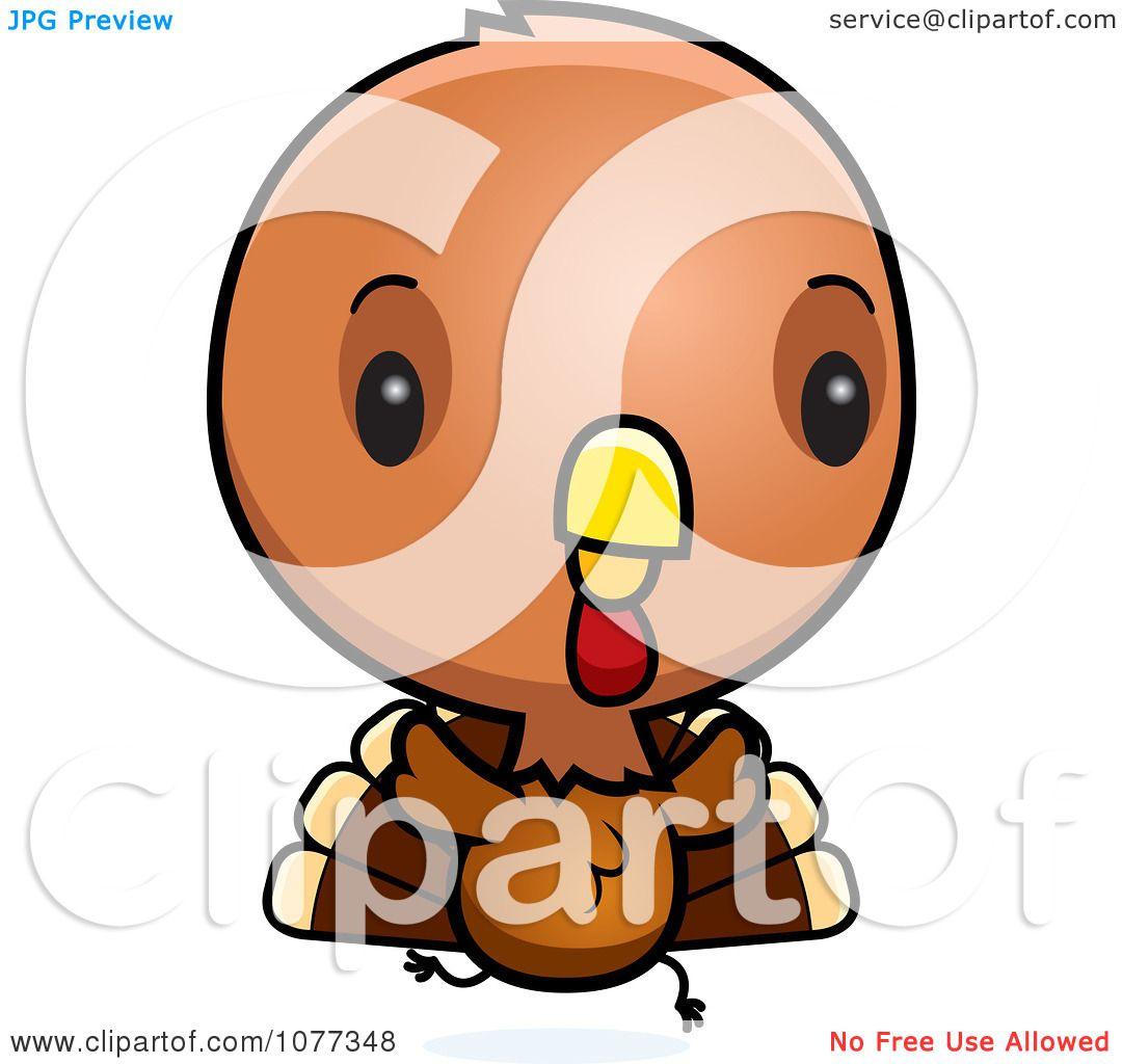 Clipart Cute Baby Turkey Bird Running - Royalty Free ...