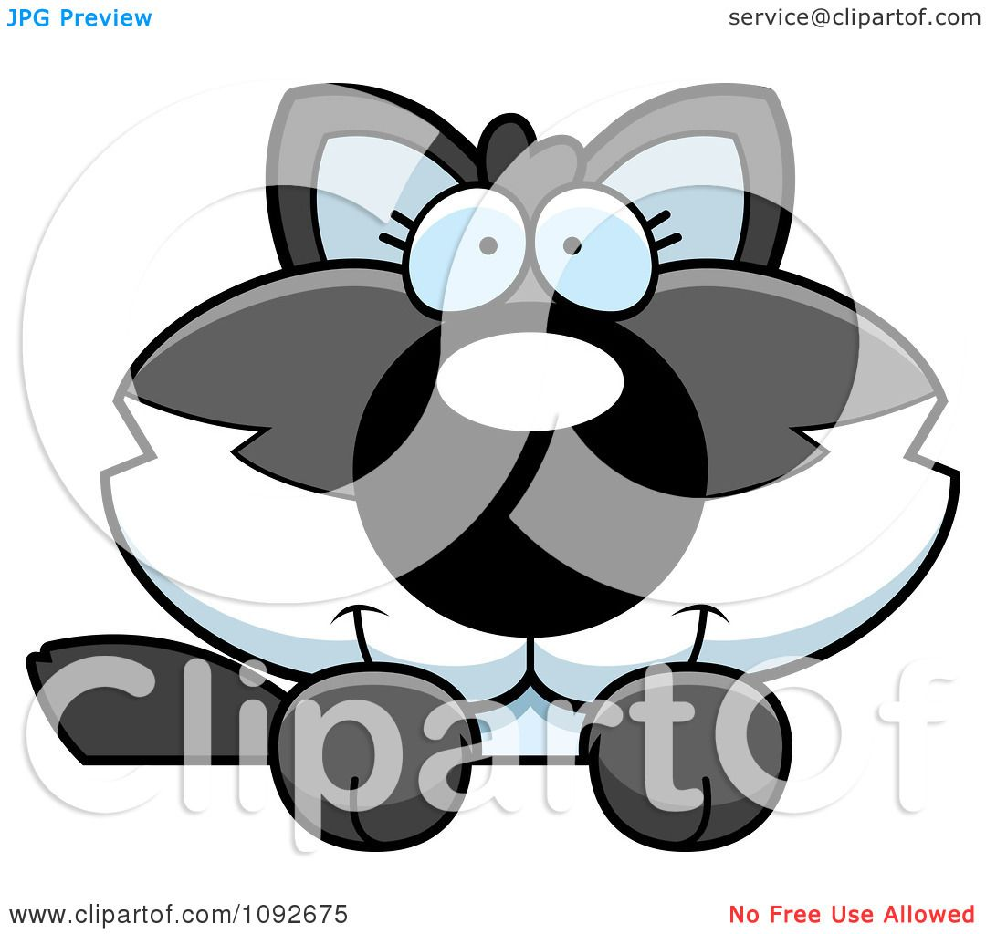 Clipart Cute Baby Wolf Looking Over A Surface - Royalty ...