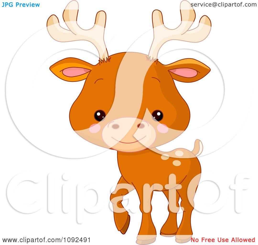 Clipart Cute Baby Zoo Deer - Royalty Free Vector ...