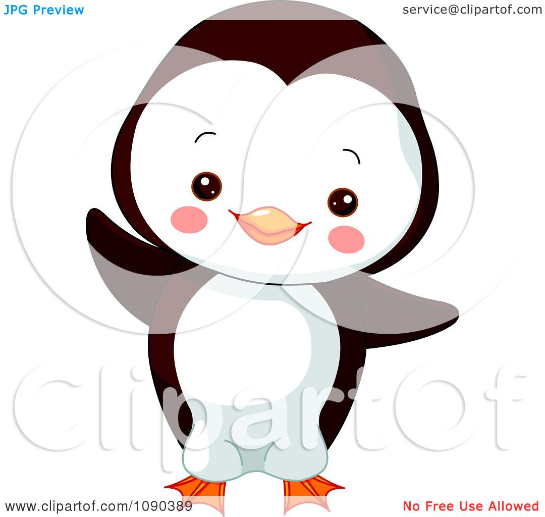 ... Baby Zoo Penguin Dancing - Royalty Free Vector Illustration by Pushkin