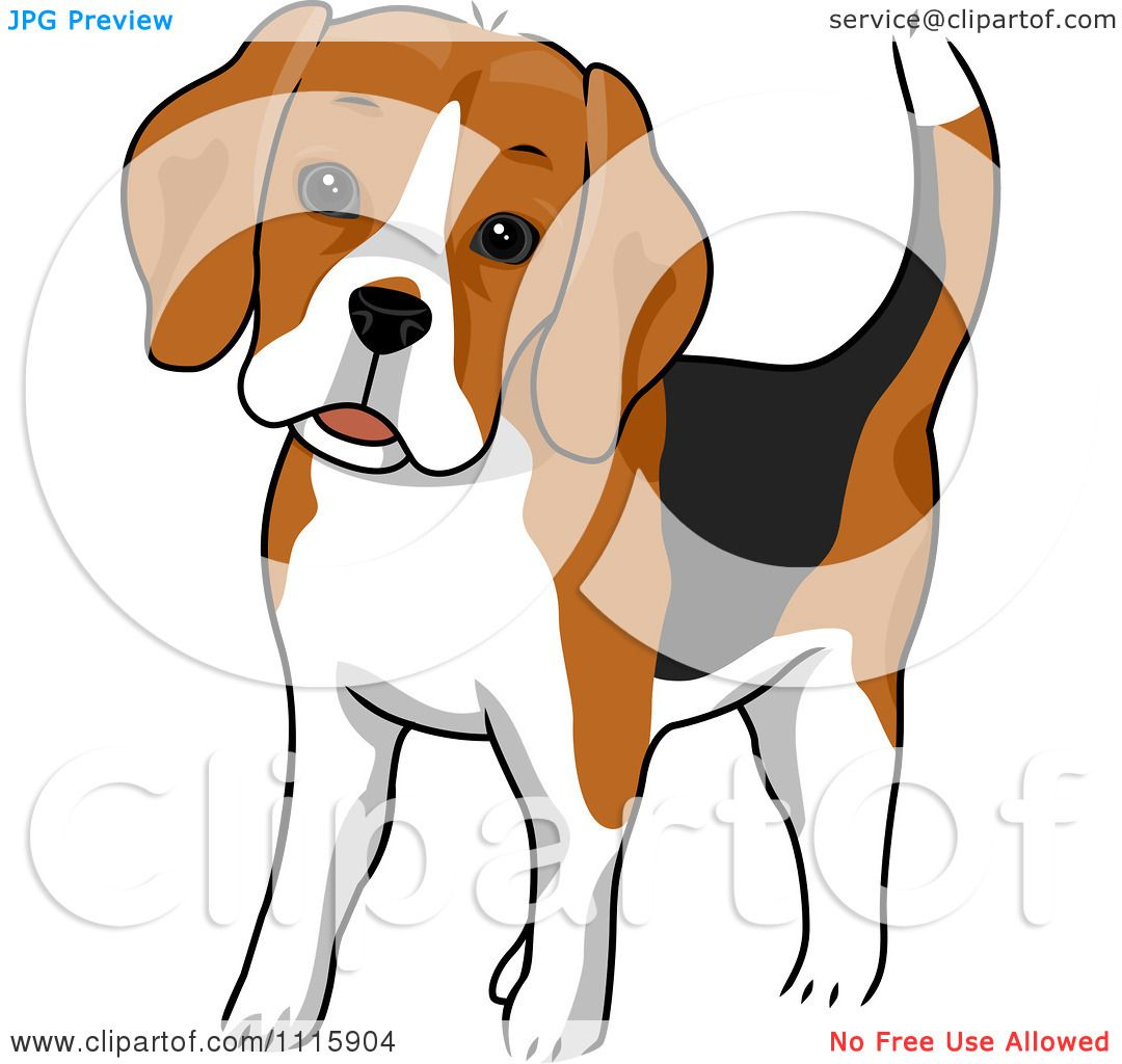 Clipart Cute Beagle Dog - Royalty Free Vector Illustration ...