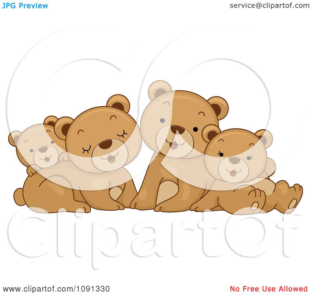 free clip art bear family - photo #15