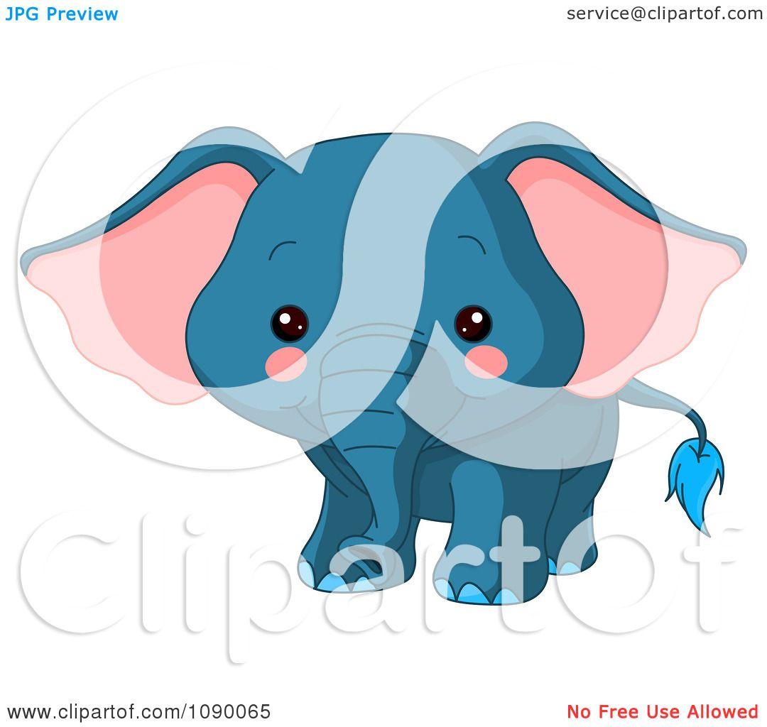 Baby Giraffe Clipart Blue Blue Baby Elephant Cute