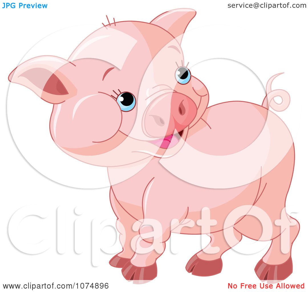 Clipart Cute Chubby Baby Pig Royalty Free Vector