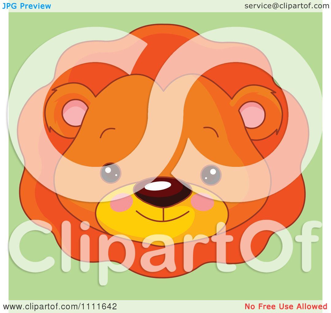 Baby lion head clipart