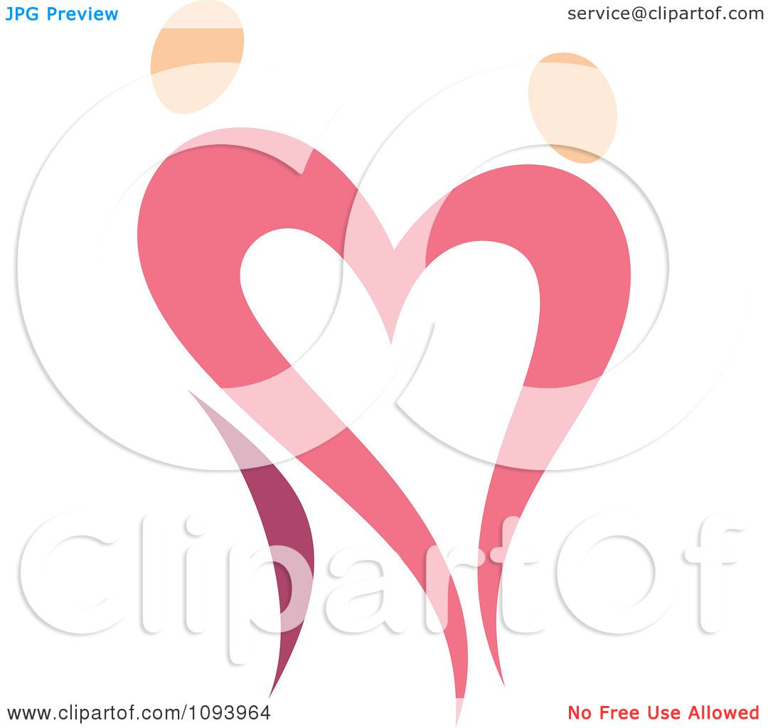 Clipart Dancing Pink Heart People 3 - Royalty Free Vector ...