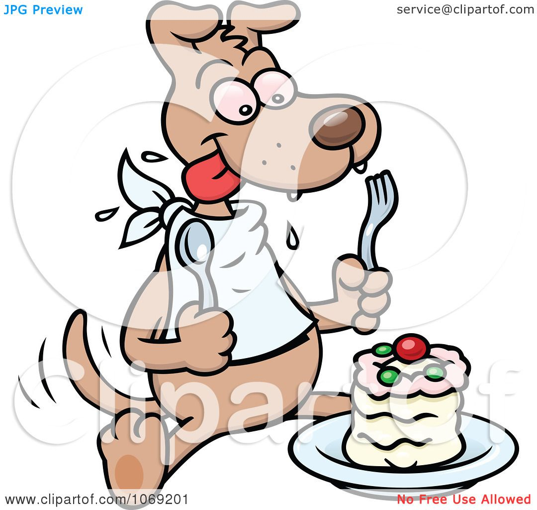 Dog Eating Clipart Clipart Dog Eating a Cake