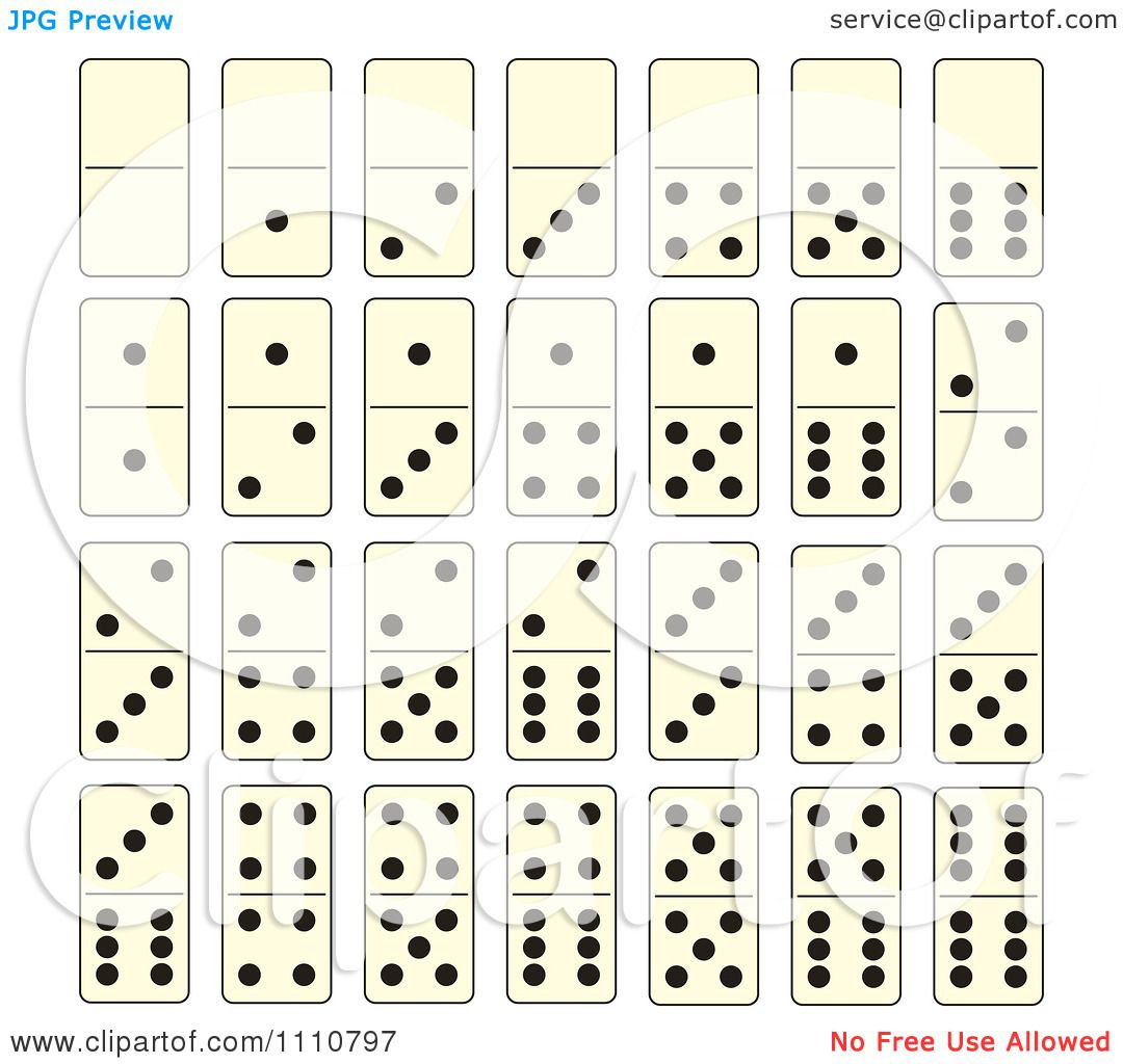 Clipart Dominoes Game Tiles Royalty Free Vector