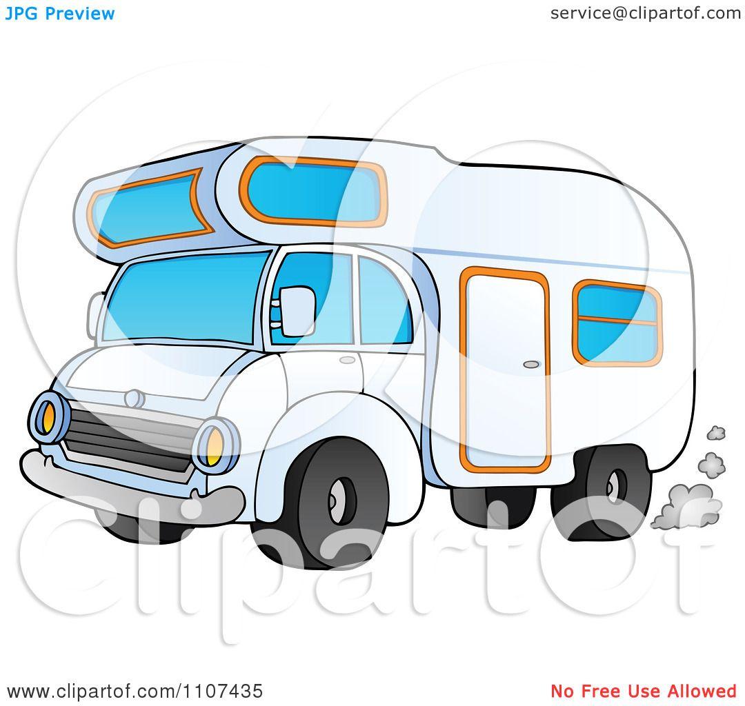 Clipart Driving Camper Van