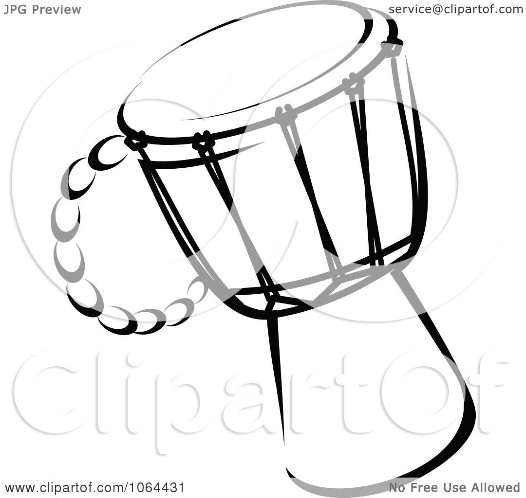 Clipart drum in black and white royalty free vector - Clipart illustration ...