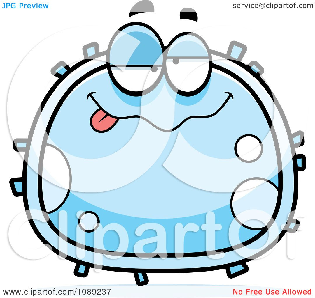 Clipart Drunk White Blood Cell Royalty Free Vector Illustration By