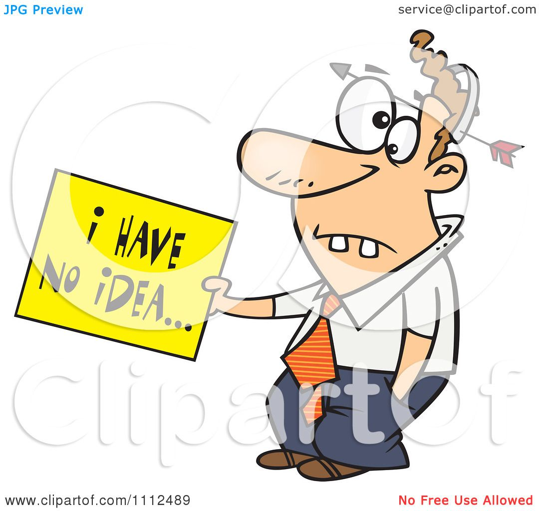 Clipart dumb man with an arrow through his head holding an for Free clipart no copyright