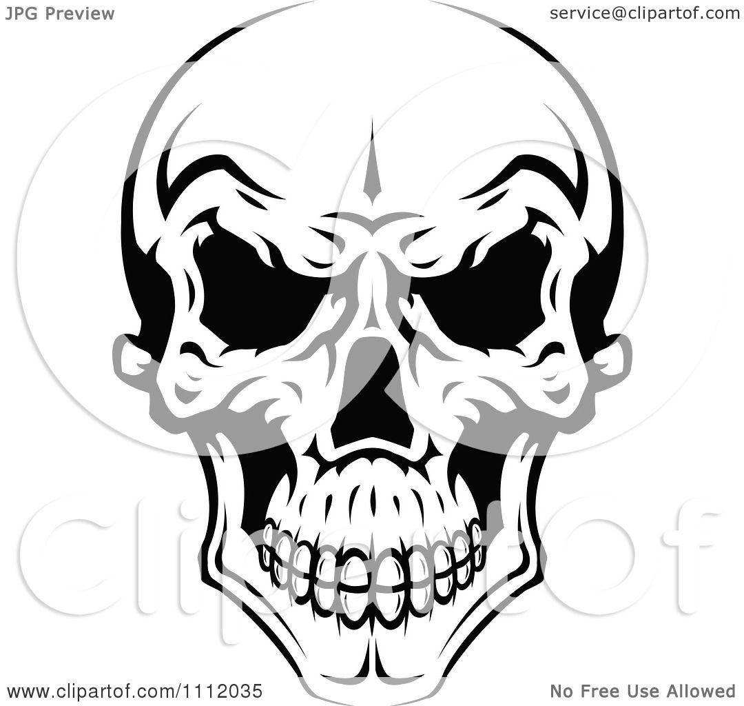 Clipart Evil Black And White Skull