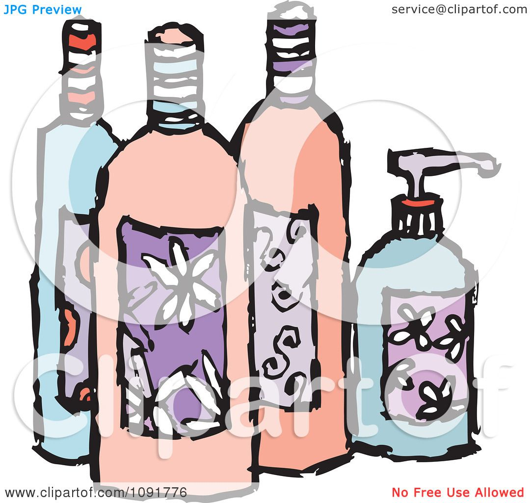 lotion beauty soap feminine clipart illustration royalty bottles vector steve klinkel