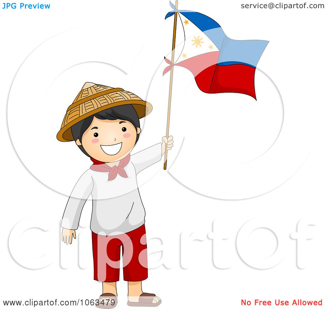 Clipart Filipino Independence Day Boy Royalty Free