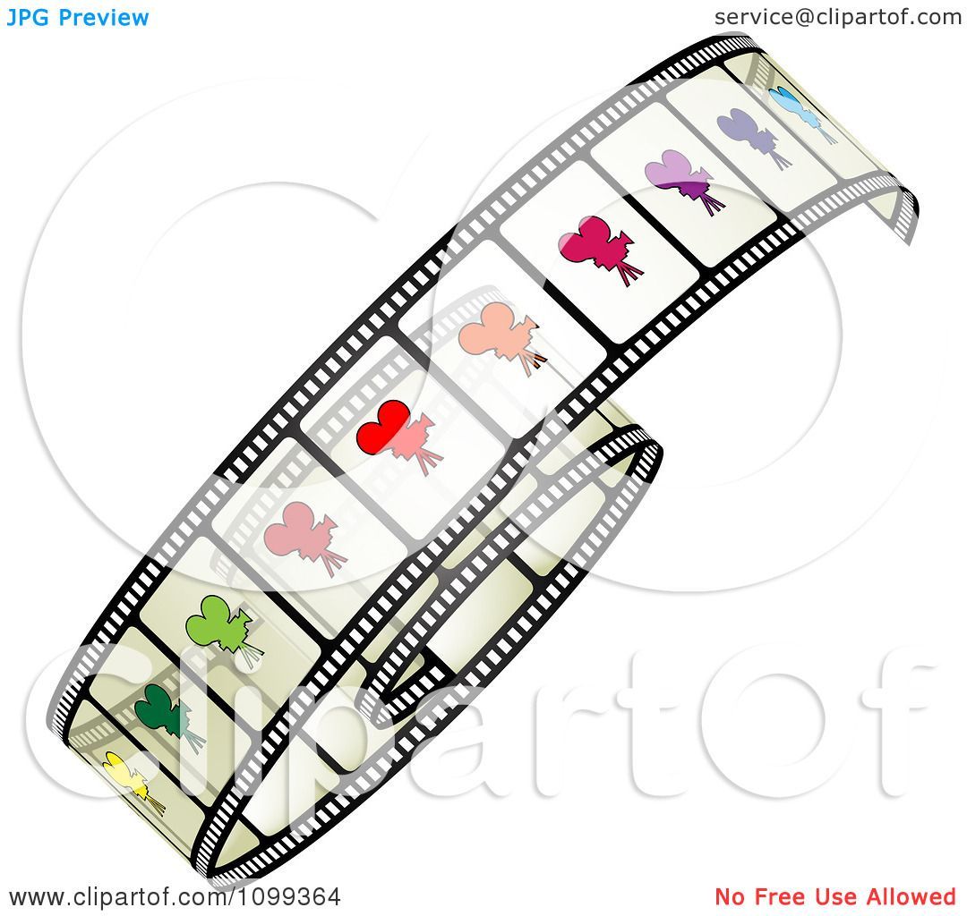 Clipart Film Roll With Colorful Camera Frames - Royalty ...