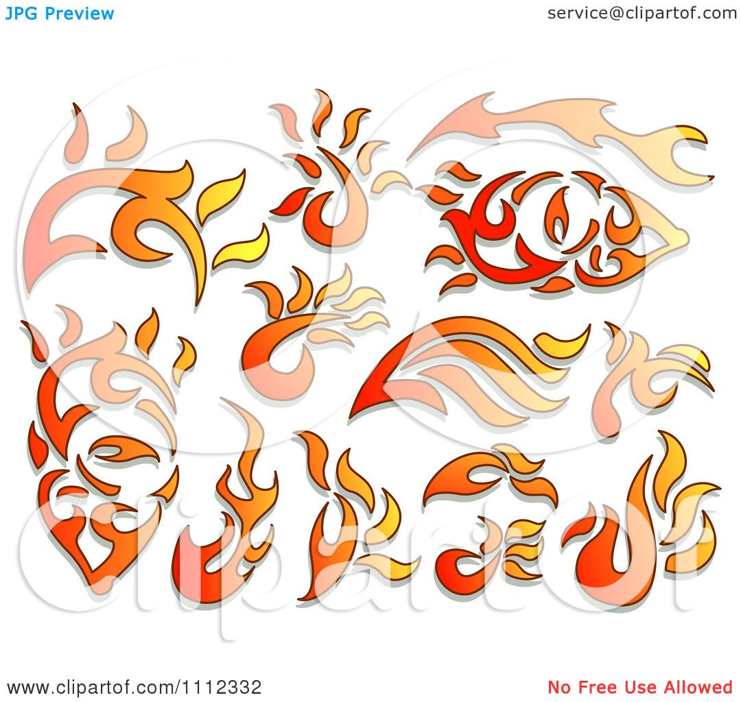 3 elements of fire flame clipart