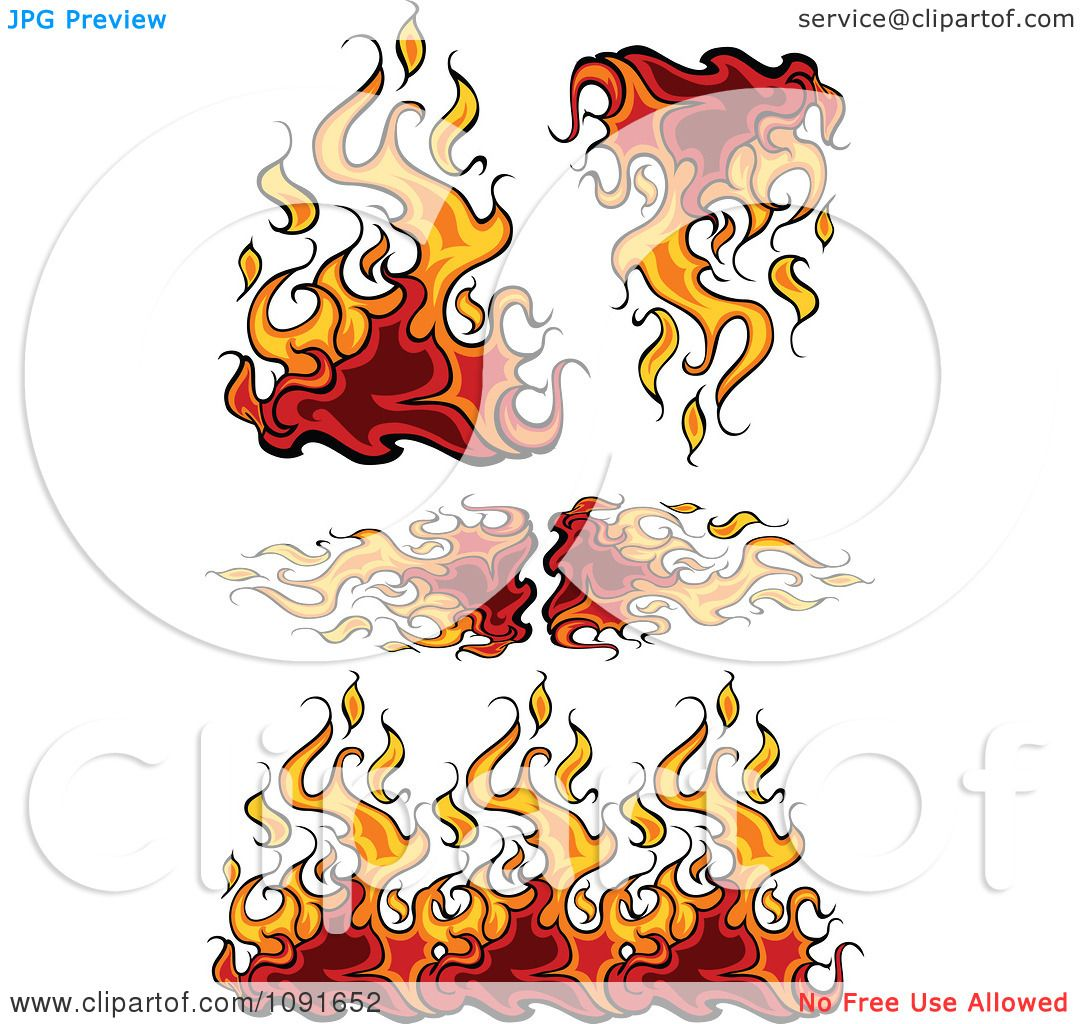 Clipart Flaming Borders And Design Elements - Royalty Free Vector ...