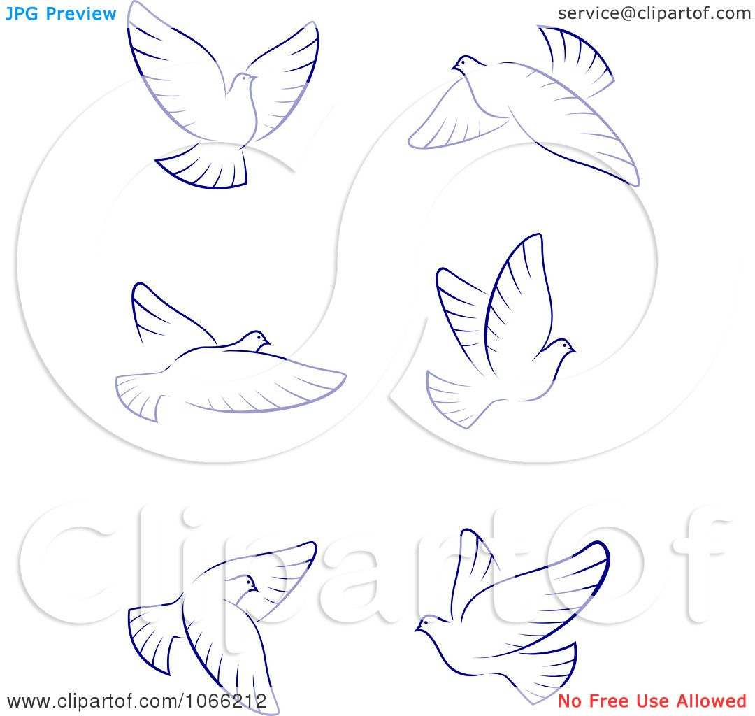 Dove Tattoo Stencil Clipart Flying Doves 2