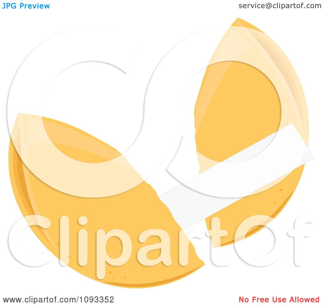 Clipart Fortune Cookie 2 - Royalty Free Vector Illustration by ...