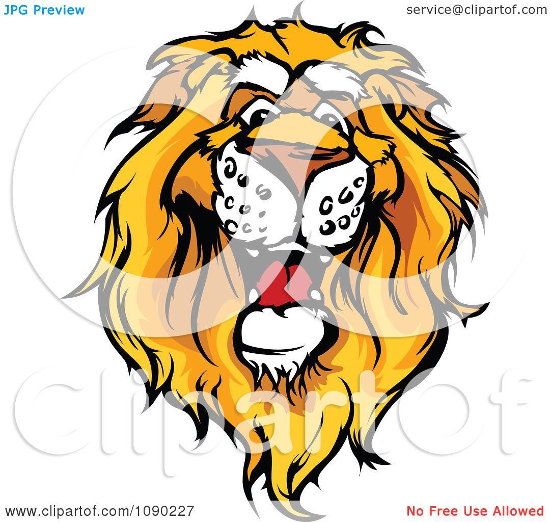 clipart friendly african lion mascot head royalty free vector rh clipartof com Lions Mascot Design Lion Logos as Mascots