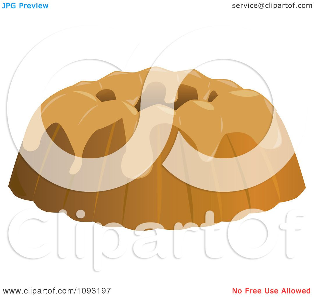 Clipart Frosted Bundt Cake - Royalty Free Vector ...