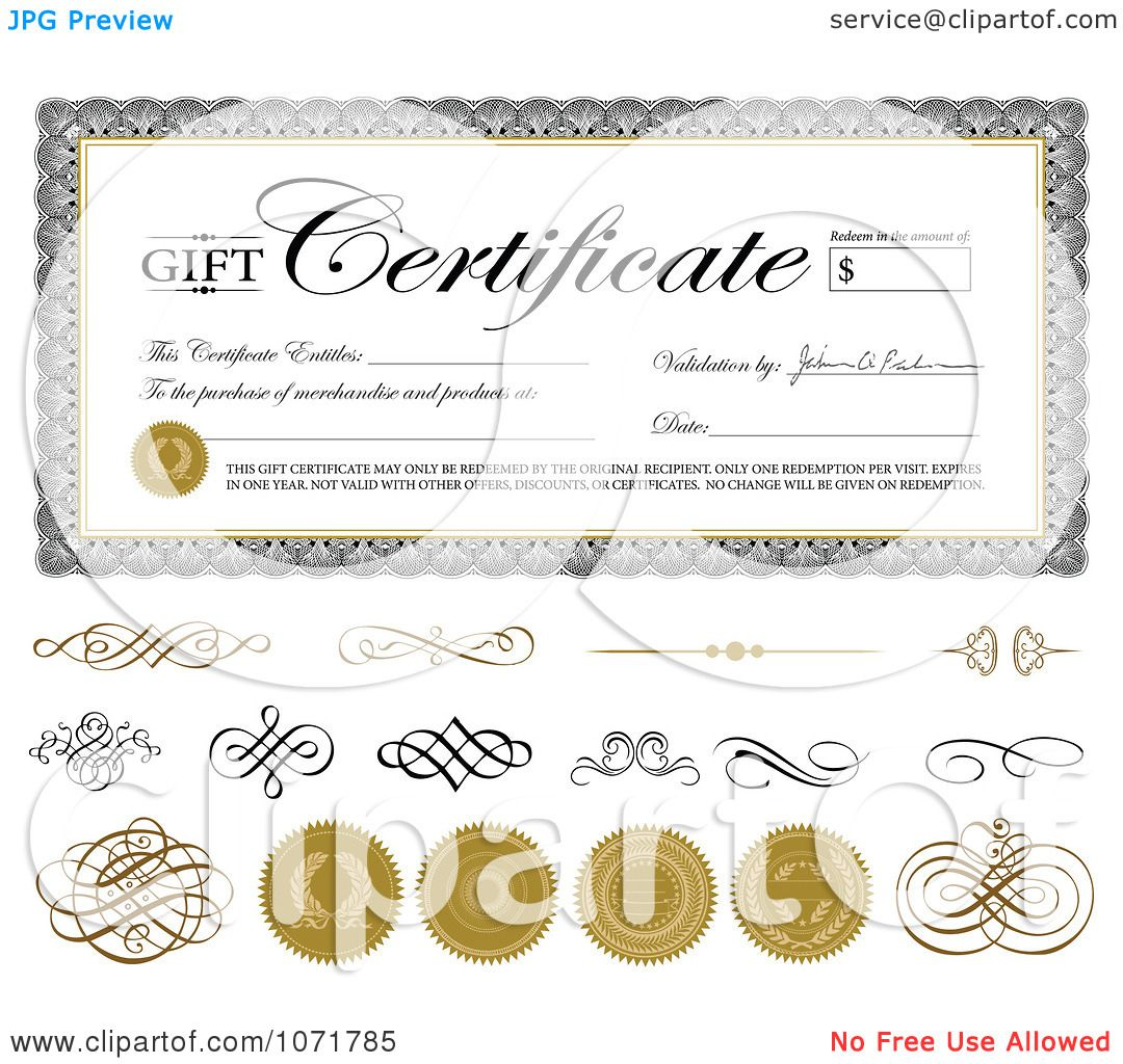 clipart gift certificate swirls and seals sample text clipart gift certificate swirls and seals sample text royalty vector illustration by bestvector