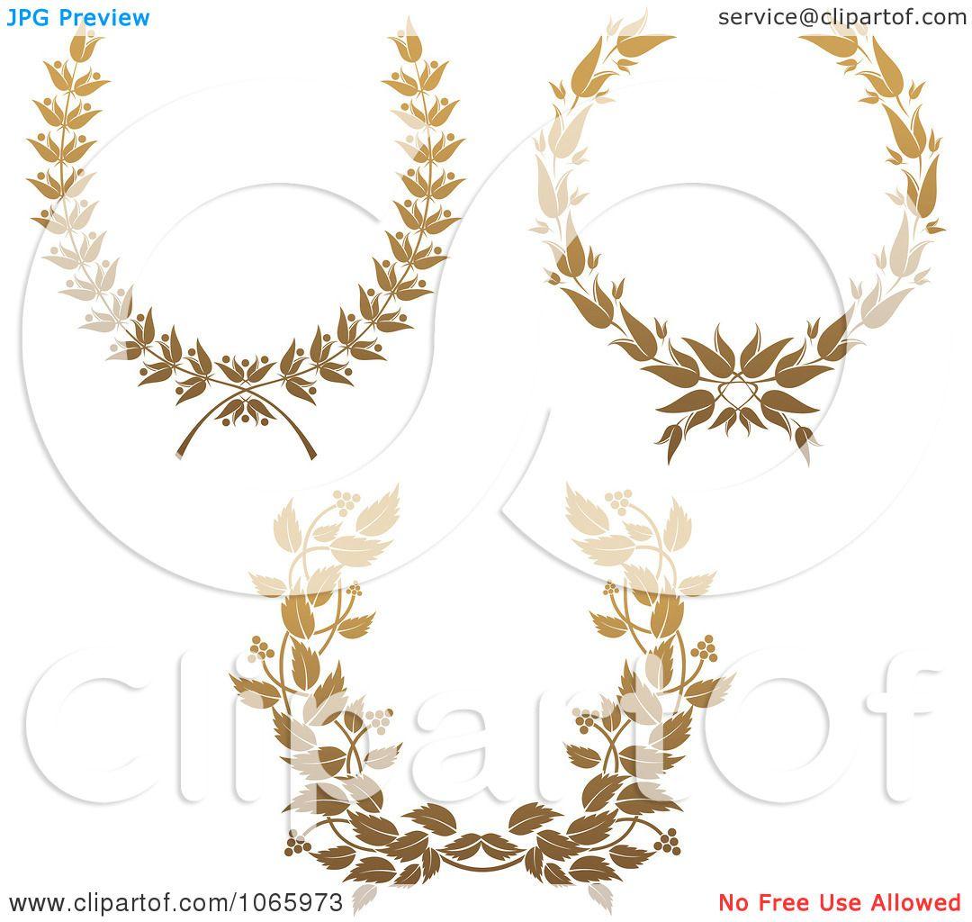 Clipart Gold Laurel Wreaths 1
