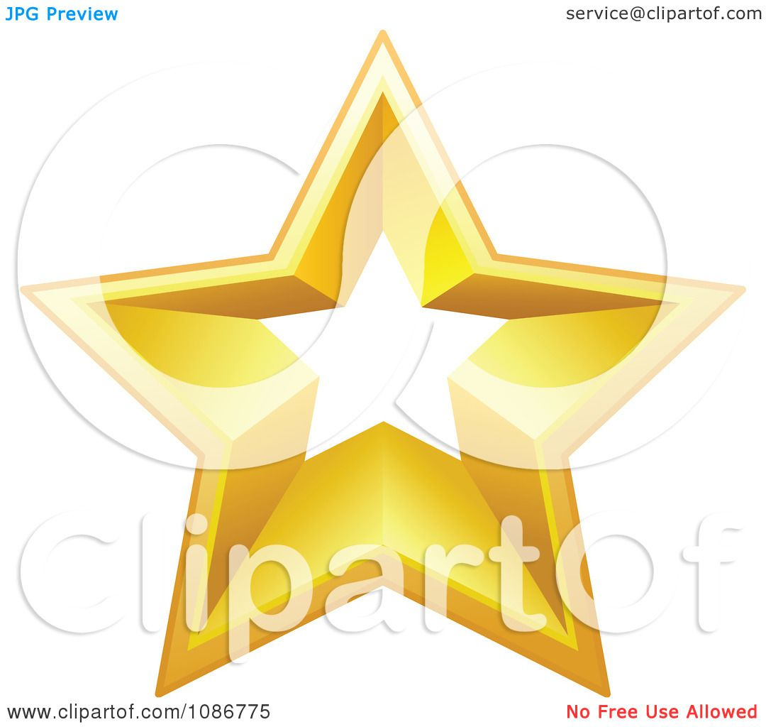 clipart golden star with a cut out center 1 royalty free vector