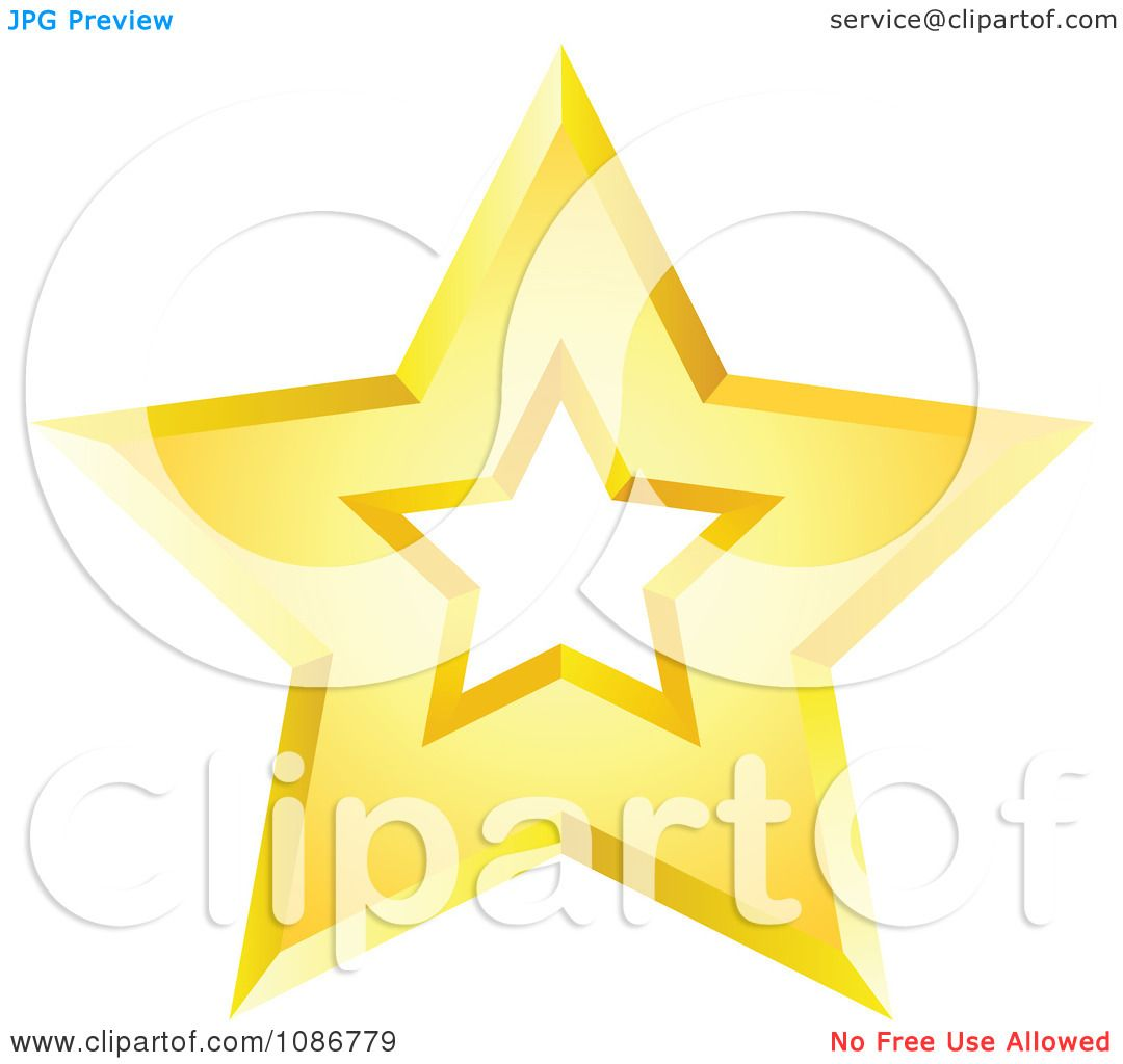 Gold Star Clip Art Png Clipart golden star with a cut
