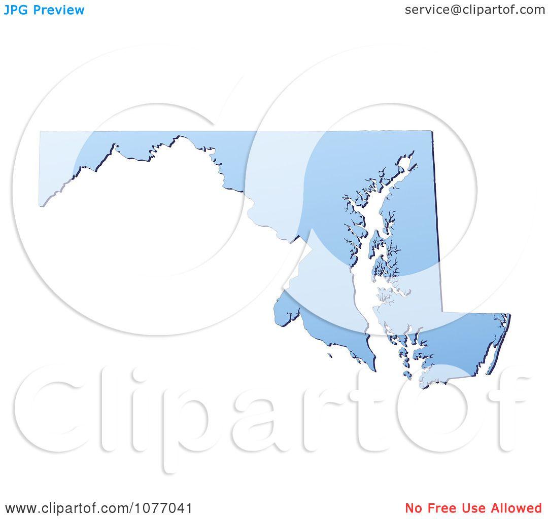 clipart gradient blue maryland united states mercator projection map royalty free cgi illustration by jiri moucka