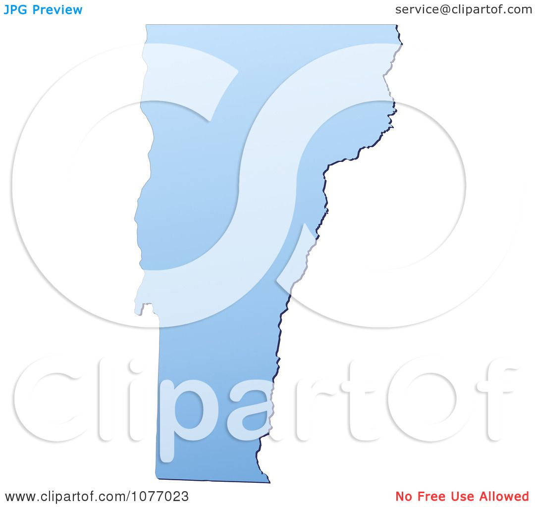 clipart gradient blue vermont united states mercator projection map royalty free cgi illustration by jiri moucka