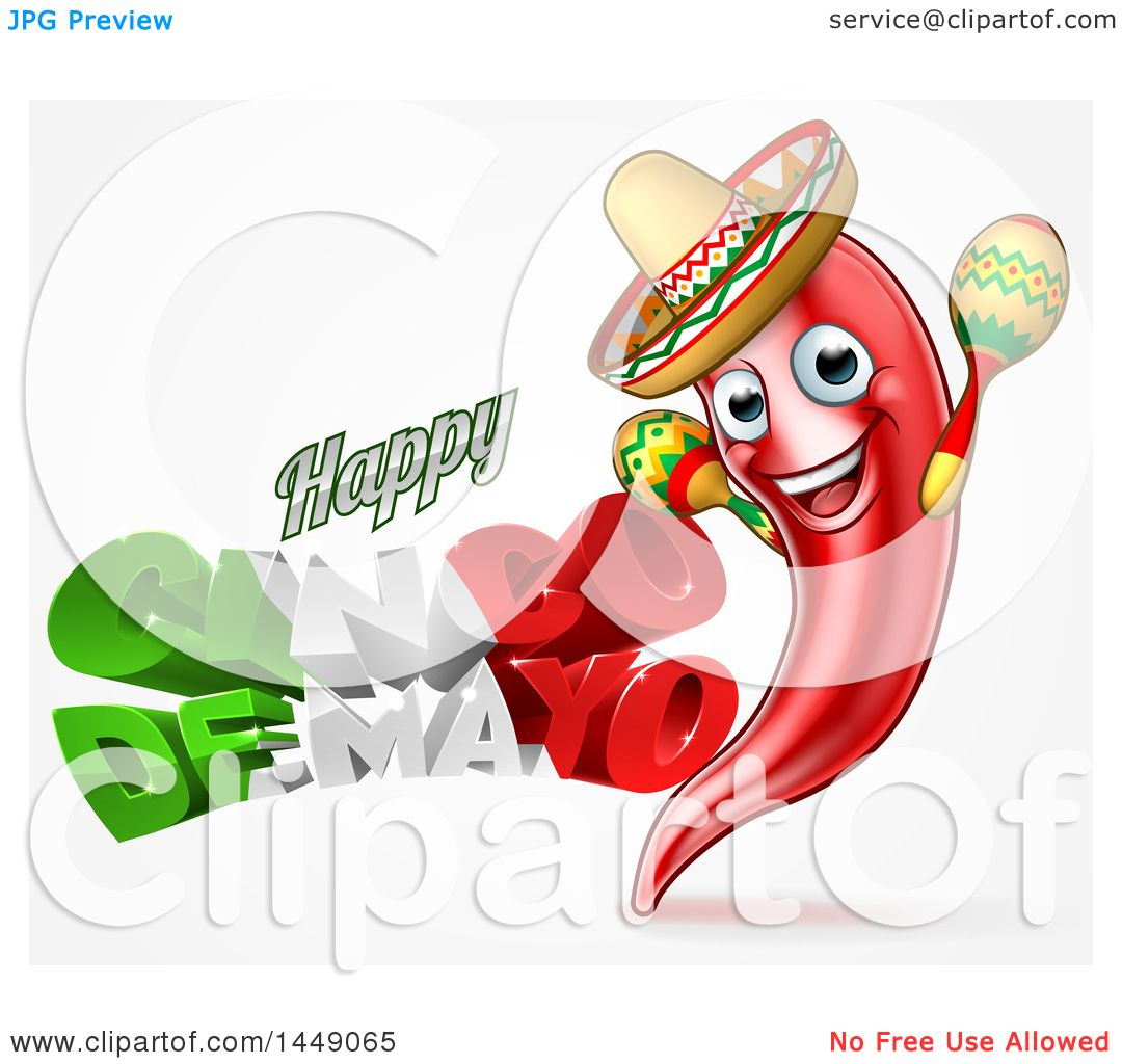 Cinco de mayo mexican flag coloring page - Clipart Graphic Of A 3d Mexican Flag Colored Happy Cinco De Mayo Text Design With A Chile Pepper Mascot Holding Maracas Royalty Free Vector Illustration