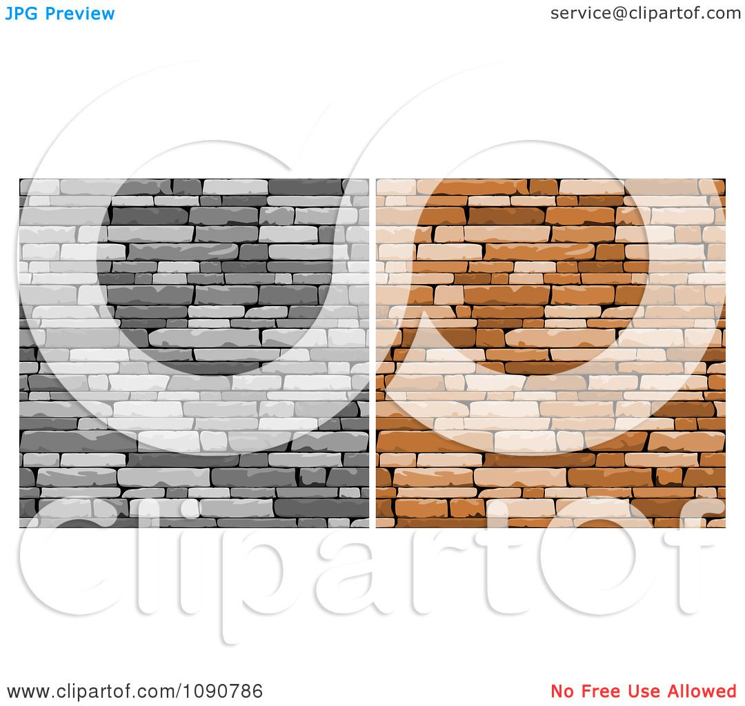 Clipart Grayscale And Brown Walls Of Stacked Stones Or Bricks Royalty Free Vector Illustration By Vector Tradition Sm 1090786