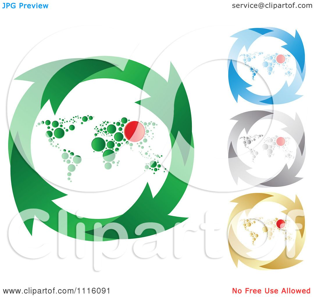 Clipart green blue silver and gold recycle arrow and world map clipart green blue silver and gold recycle arrow and world map circles royalty free vector illustration by andrei marincas gumiabroncs Gallery