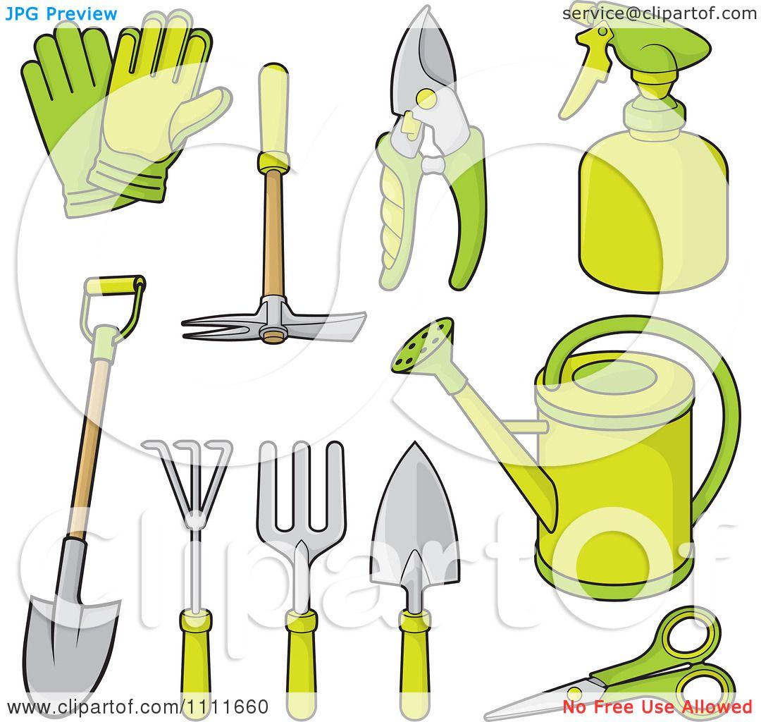 Garden Trowel Clipart Clipart green gardening tools